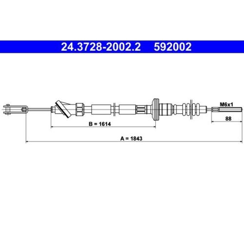 Clutch Cable ATE 24.3728-2002.2 SUZUKI