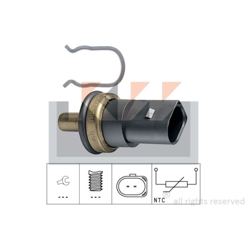 Sensor, coolant temperature KW 530 278 Made in Italy - OE Equivalent AUDI FORD