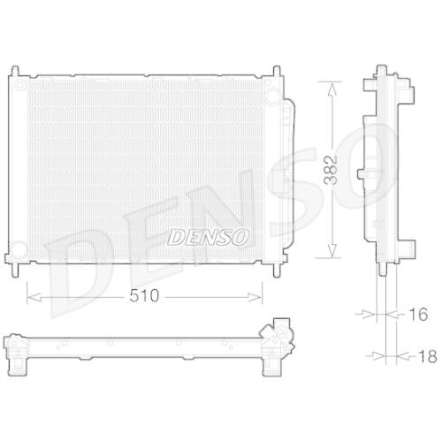 Cooler Module DENSO DRM23101 RENAULT