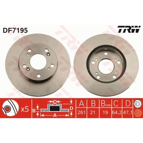 TRW Brake Disc DF7195