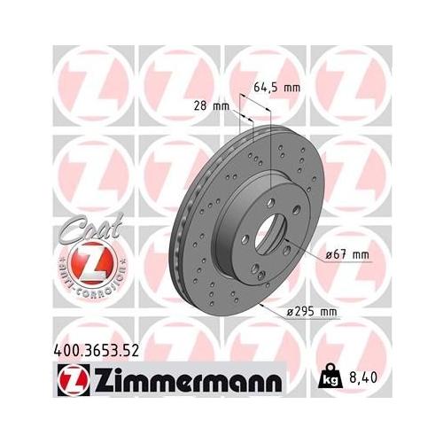 ZIMMERMANN Brake Disc 400.3653.52