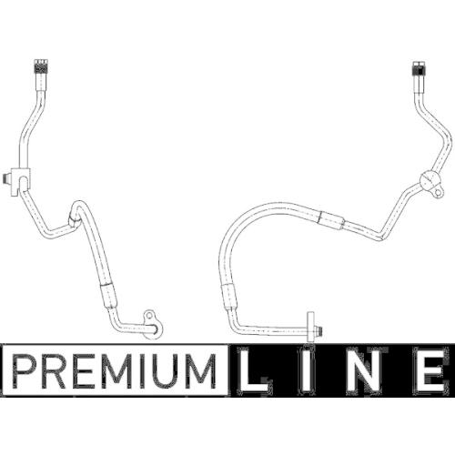 High Pressure Line, air conditioning MAHLE AP 118 000P BEHR *** PREMIUM LINE ***