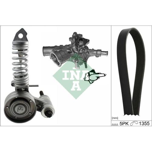 Water Pump + V-Ribbed Belt Set INA 529 0297 31 OPEL VAUXHALL