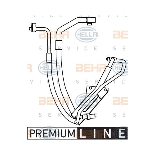 High-/Low Pressure Line, air conditioning HELLA 9GS 351 337-591 FORD