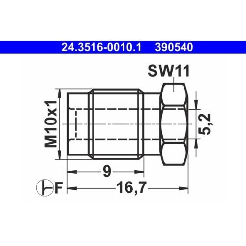 Überwurfschraube ATE 24.3516-0010.1