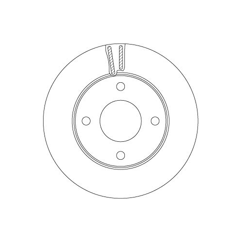 Brake Disc TRW DF6417 NISSAN