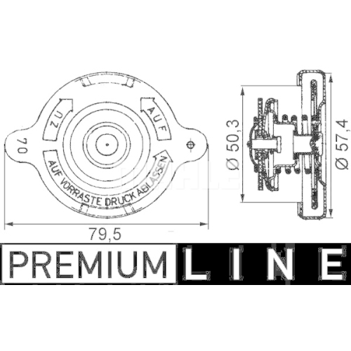Sealing Cap, radiator MAHLE CRB 16 000P BEHR *** PREMIUM LINE *** MAN SOLARIS