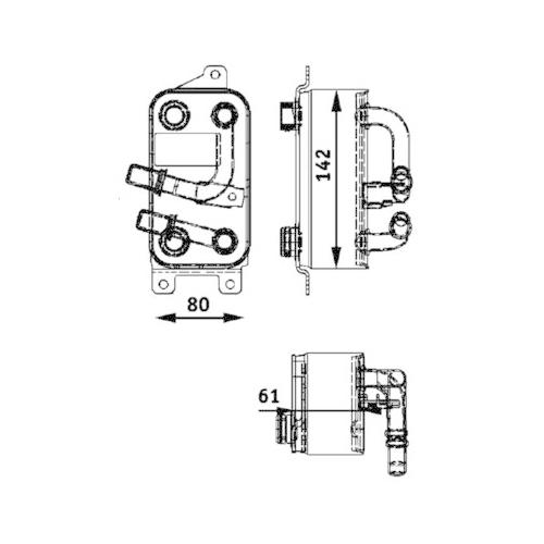 Ölkühler, Automatikgetriebe MAHLE CLC 43 000P BEHR *** PREMIUM LINE *** BMW