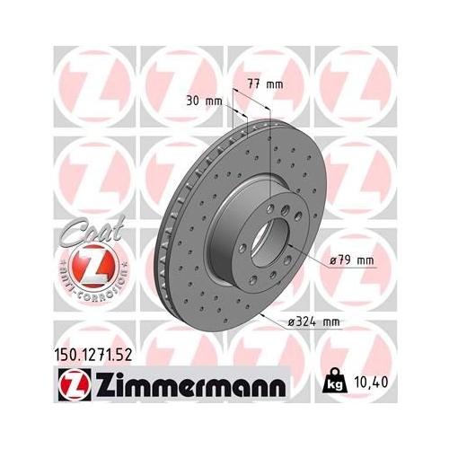 ZIMMERMANN Brake Disc 150.1271.52