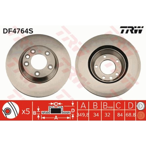 TRW Brake Disc DF4764S