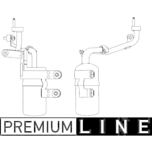 Dryer, air conditioning MAHLE AD 291 000P BEHR *** PREMIUM LINE *** FORD