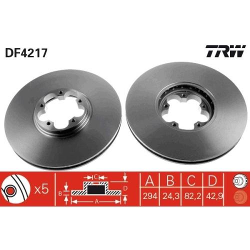 TRW Brake Disc DF4217