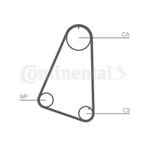 Timing Belt CONTINENTAL CTAM CT504 OPEL VAUXHALL