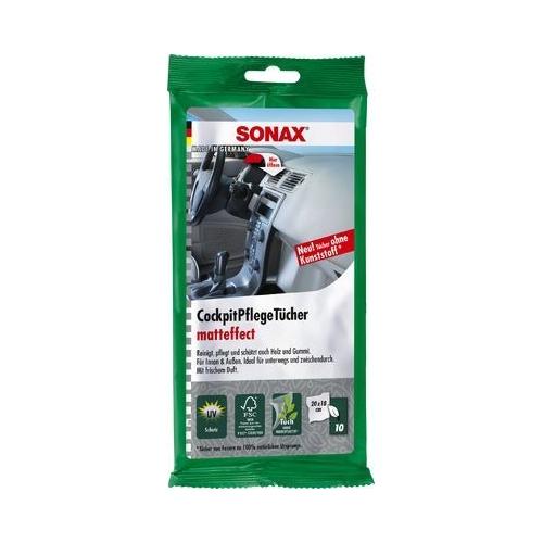 SONAX Cockpitpflegetücher Reinigungstücher 10 Stück 04158000