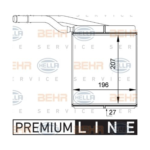 Heat Exchanger, interior heating HELLA 8FH 351 313-091 FORD