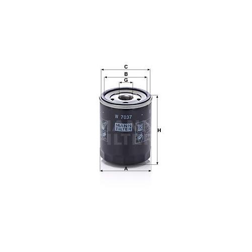 Oil Filter MANN-FILTER W 7037 SUBARU