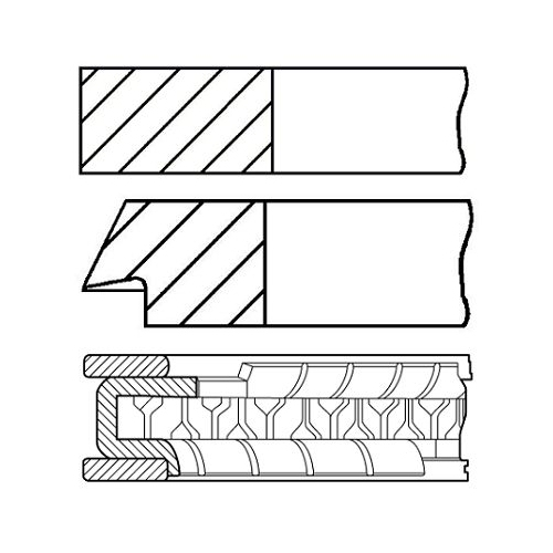 GOETZE ENGINE Piston Ring Kit 08-429400-00