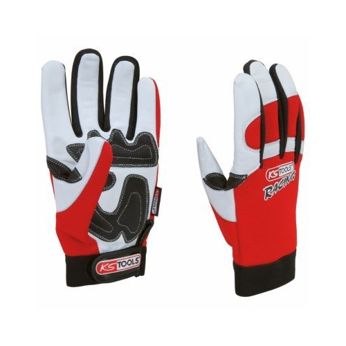 KS TOOLS Leather glove for mechanics, vibration-proof, 10 310.0255