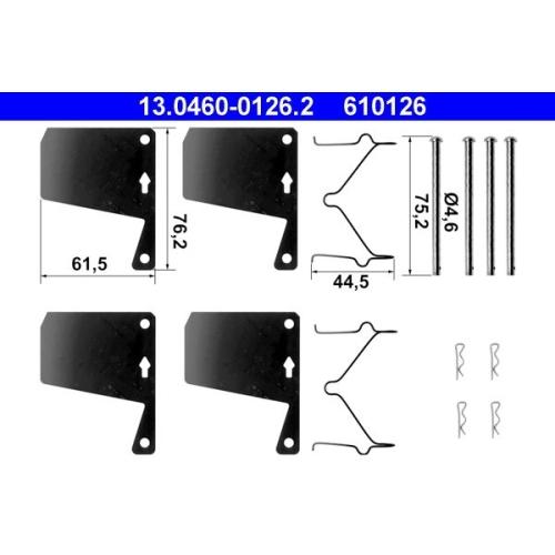 Accessory Kit, disc brake pad ATE 13.0460-0126.2