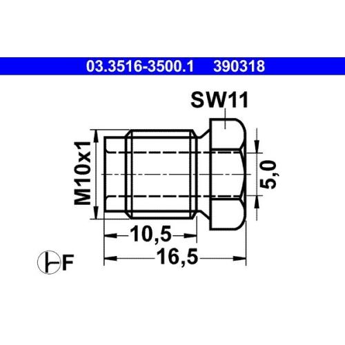 Überwurfschraube ATE 03.3516-3500.1 BMW KÄSSBOHRER