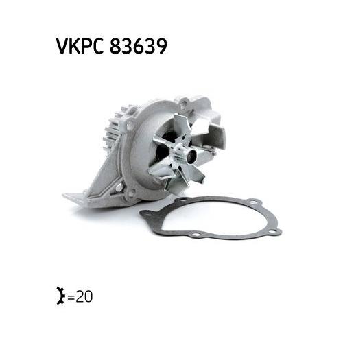 Water Pump SKF VKPC 83639 CITROËN FIAT LANCIA PEUGEOT SUZUKI