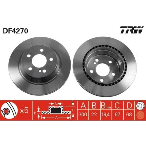 TRW Bremsscheibe DF4270