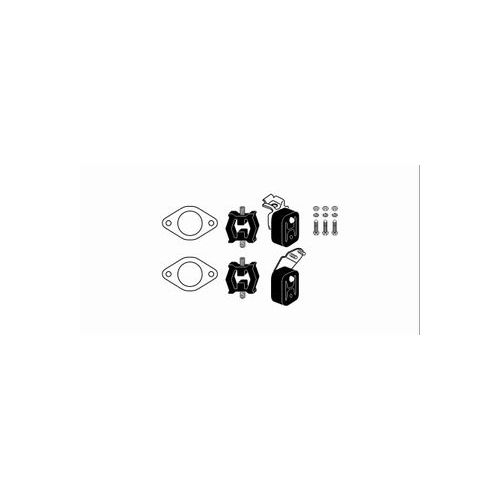 Mounting Kit, exhaust system HJS 82 12 2248