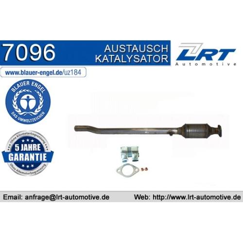 """Katalysator LRT 7096 ausgezeichnet mit """"Der Blaue Engel"""" AUDI SKODA VW"""