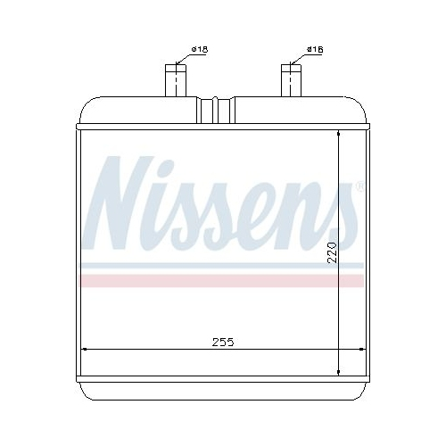 Wärmetauscher, Innenraumheizung NISSENS 71810 IVECO