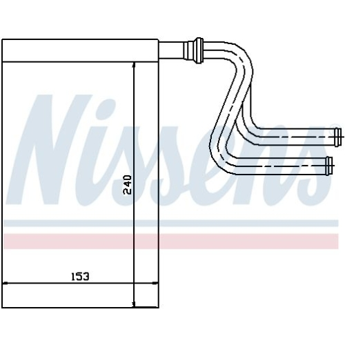 Heat Exchanger, interior heating NISSENS 71745 FORD