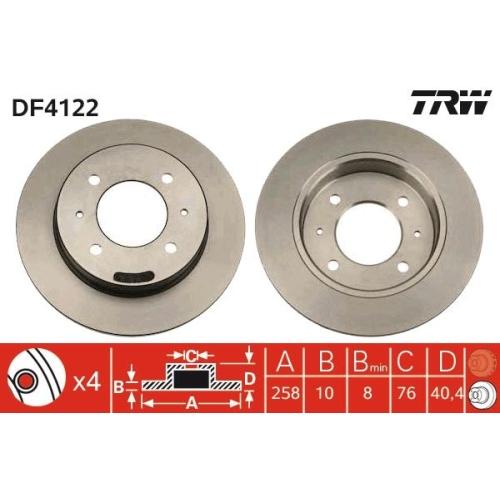 TRW Brake Disc DF4122