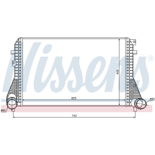 Intercooler, charger NISSENS 96542 AUDI SEAT VW