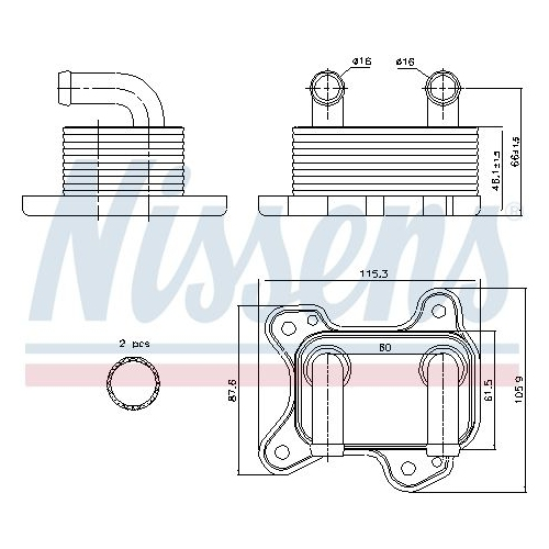Ölkühler, Motoröl NISSENS 90682 OPEL VAUXHALL