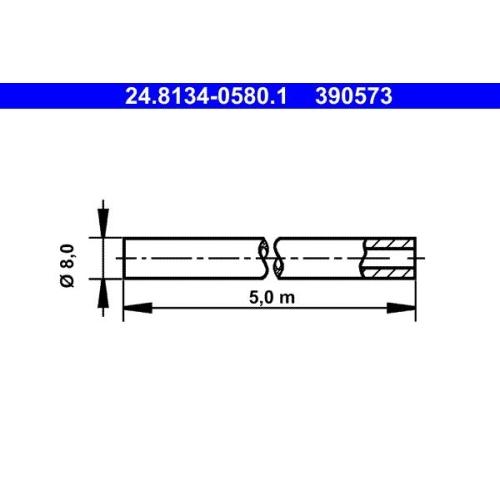 Bremsleitung ATE 24.8134-0580.1
