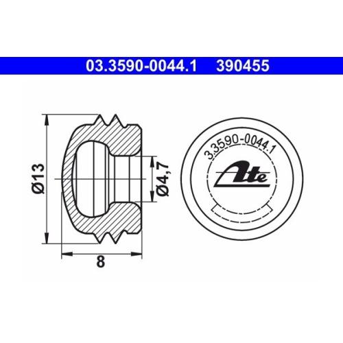 Sealing/Protective Cap ATE 03.3590-0044.1 ALFA ROMEO FIAT MERCEDES-BENZ