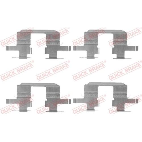 Accessory Kit, disc brake pad QUICK BRAKE 109-1711