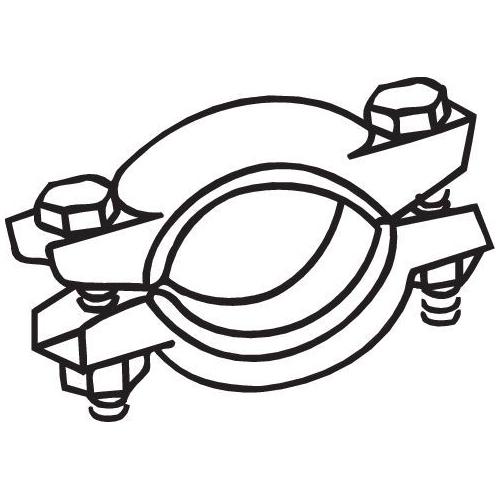 Klemmstück, Abgasanlage BOSAL 254-787 CITROËN FIAT LADA SEAT ZASTAVA