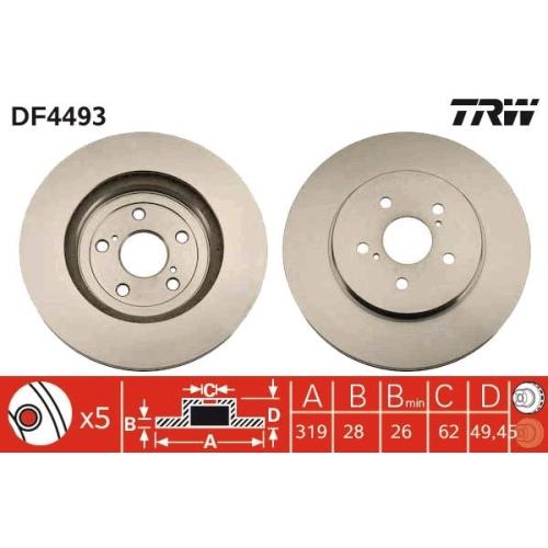 TRW Brake Disc DF4493
