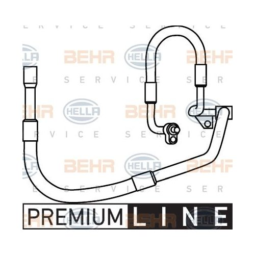 High-/Low Pressure Line, air conditioning HELLA 9GS 351 337-331 FORD