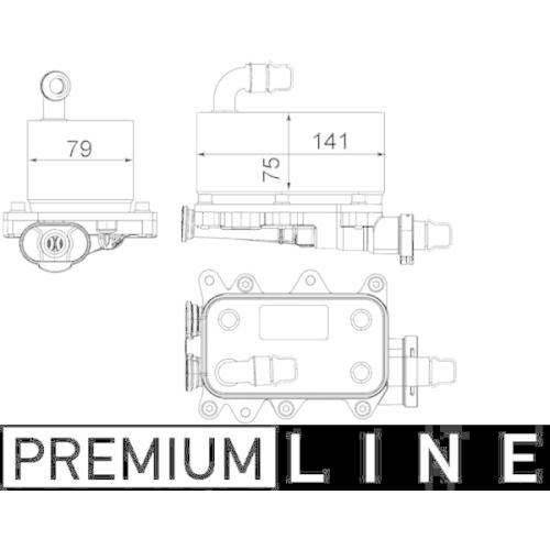 Ölkühler, Automatikgetriebe MAHLE CLC 19 000P BEHR *** PREMIUM LINE ***