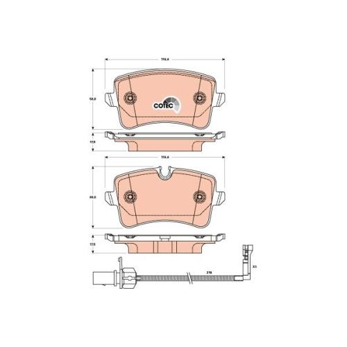 TRW Brake Pad Set, disc brake GDB1902