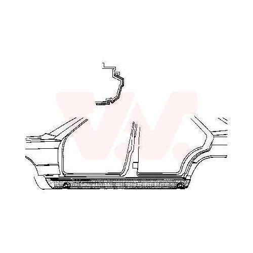 Foot Board, door sill VAN WEZEL 3020109