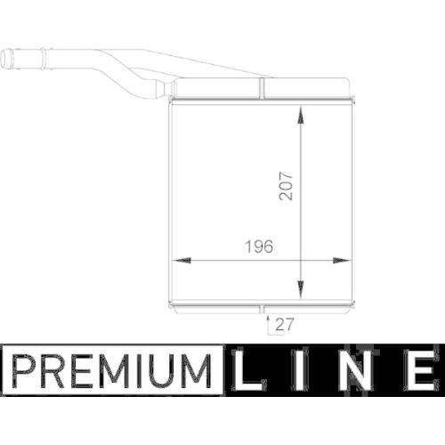 Heat Exchanger, interior heating MAHLE AH 143 000P BEHR *** PREMIUM LINE ***
