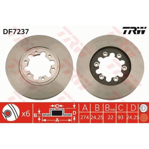 TRW Bremsscheibe DF7237