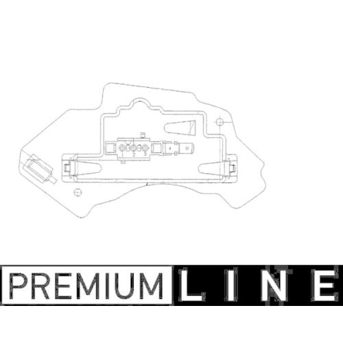 Regulator, passenger compartment fan MAHLE ABR 28 000P BEHR *** PREMIUM LINE ***