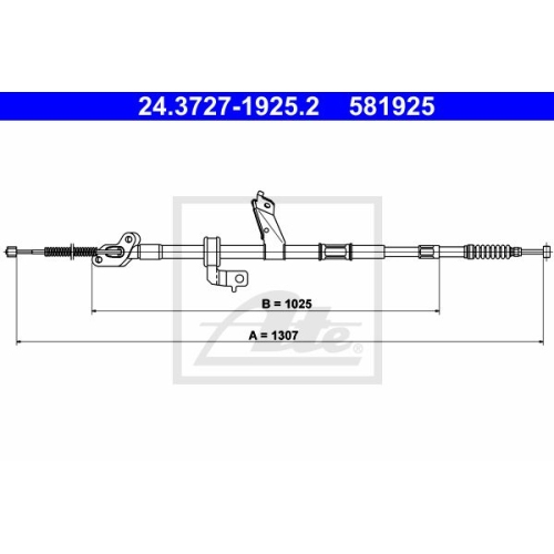 ATE Cable, parking brake 24.3727-1925.2