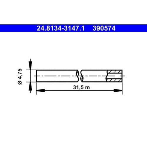 Bremsleitung ATE 24.8134-3147.1