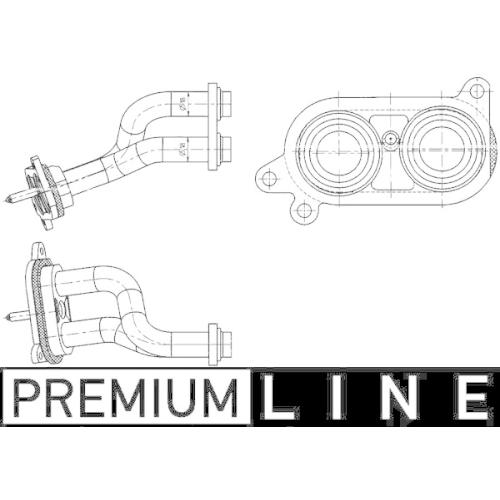Rohrleitung, Wärmetauscher MAHLE AHX 3 000P BEHR *** PREMIUM LINE *** BMW