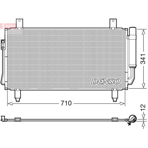 Kondensator, Klimaanlage DENSO DCN45006 MITSUBISHI