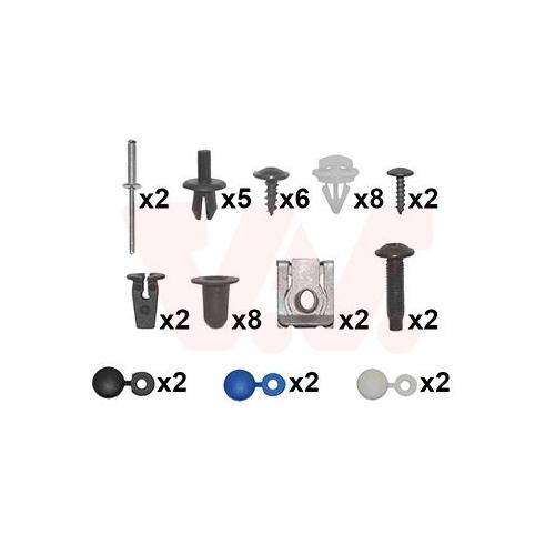 Montagesatz, Stoßfänger VAN WEZEL 5747794 VW